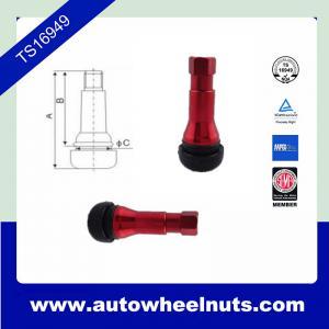 China Custom Red Zinc Alloy Tire Valve Stem Tr413 ISO / TS16949 Standard wholesale