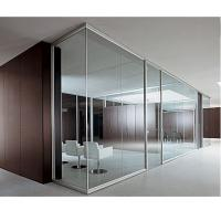 China clear tempered glass partition for office building and high grade restaurant made in China on sale
