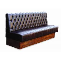 China Foshan restaurant furniture factory leather booth button tufted booth restaurant booth seating wholesale