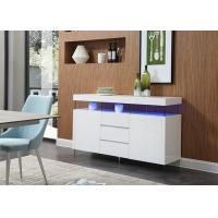 China White High Gloss Sideboard With Two Door Scratch And Corrosion Resistant E1 Board wholesale
