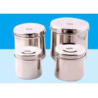 China Silver Stainless Steel Sterilization Container With Small , Medium , Large Size on sale