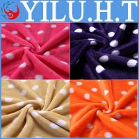China simple dot baby applique king-size coral fleece throw baby blanket wholesale