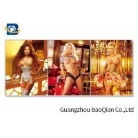 China 3D Flipped Wall Decorative Photos With Sexy Naked Beautiful Girl wholesale