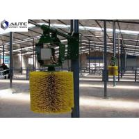 China Customized Color Rotating Cow Brush , Cattle Scratcher Brush Hard Plastic PP wholesale