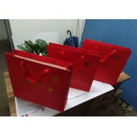 China Food Packaging Logo Printed Paper Gift Bags , Paper Goodie Bags Red Color wholesale