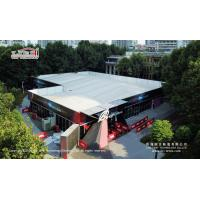 China 10x35m Aluminum Double Decker Exhibition Tent With Glass Walls Aluminum Stair wholesale