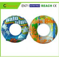 China Machine Print Swimming Float Inflatable Pool Rings For Adults 0.25mm Thickness wholesale