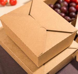 China 900ml Rectangular Takeaway Fried Chicken Custom Paper Lunch Box wholesale