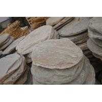 China Natural Oyster Stepping Stone Slate Stepping Pavements Quartzite Garden Paving Round Stone wholesale