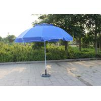 China Waterproof Movable Round Outdoor Umbrella , Blue Outdoor Market Umbrella wholesale