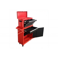 China Large 26 Inch Wide Rolling Tool Chest Cabinet Combo Bottom Roller With Red Black Door wholesale