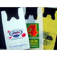 Quality Recycled Custom Plastic Grocery Bags With Handles Eco Friendly Multi Colored for sale