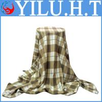 Buy cheap bed cover check grid polar fleece printing sheet blanket manufacturer india from wholesalers