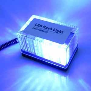 China Auto LED Strobe light  cuboid LED emergency warning Lamp blue color wholesale
