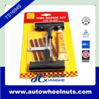 China Safety Car Bike Motorcycle Repair Kit Tubeless Tires Tyre Puncture Plug Auto Repair Tool Kit wholesale