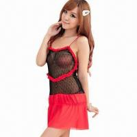 China Valentine lingerie, ruffled heart kiss me love, fancy ruffled flower lace, low MOQ wholesale