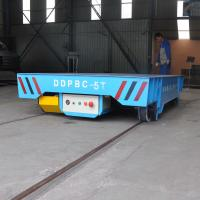 China Best Selling Material Handling Rail Transfer Flat Cart/Battery Electric Transfer Car wholesale
