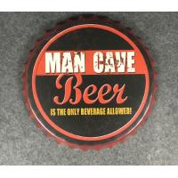 China Wall Craft Decor Beer Cap Wall Metal Plaque Wall Decors Beer Bottle Cap Restaurant Wall Plaque wholesale
