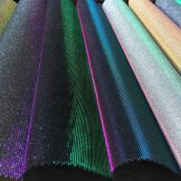 China Bedroom Decorative Glitter Leather Fabric PU PET Polyester Material wholesale