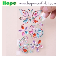 3D Acrylic Self Adhesive Diamond gem drill stickers Rhinestone Sheet for kids diy and Decal Mobile Scrapbooking OEM