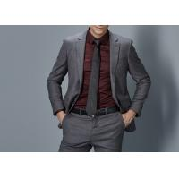 China Cotton Formal Male Grey 2 Piece Suit Two Straight Pockets S--XXXL Size Regular Fit wholesale
