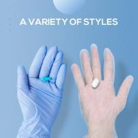 China Vinyl Sterile Disposable Plastic Gloves Curved Finger Textured Surface Sterility Maintain wholesale