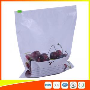 China Zipper Top Plastic Food Storage Bags With Slider , Airtight Storage Ziplock Bags wholesale