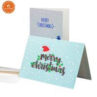 China Printing Foldable Gift Boxes Festival Christmas Card Free Design SGS Approved on sale
