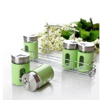 China Stainless steel cruet pepper shakers salt shakers with shelf wholesale