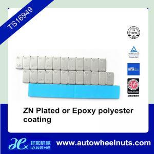 China Gary 5g * 12 Strips Tire Balance Weight , Epoxy Polyester Coating Plated wholesale