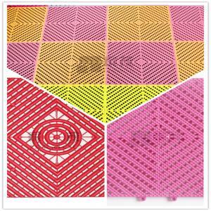 China 3W Toilet/Bathroom/Kitchen/Pool/4S Shop Plastic PP/PVC Interlocking Leak Grid flooring wholesale