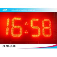 China Double Sided Red Led Clock Display For Outdoor Sports , High Accuracy wholesale