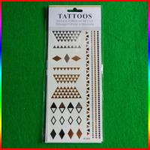 China 2015 fashion stylish metallic tattoo with animal print temporary tattoo on sale