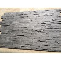 China Split Face Slate Stacked Stone,Riven Black Slate Stone Cladding,Thin Stone Veneer,Black Slate Zclad Stone Panels wholesale
