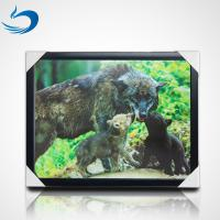 China Custom Bear Design 3D Lenticular Picture , 3D Flip Picture Decration wholesale