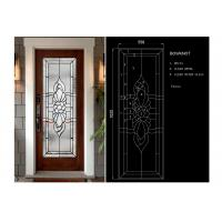 China Arctic Patterned Window Door Suit Decorative Frosted Glass Brass / Nickel / Patina Available wholesale