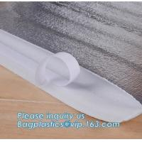 China Reusable aluminium foil thermal insulation material cooler bag for picnic with magic tape closureRecycled PP Woven Plast on sale