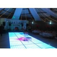 Disco Interactive LED Dance Floor For Decoration , Wedding Dance Floor Hire Acrylic Material Manufactures