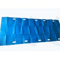 China Blue Color Customized Surgical Patient Transfer Slide Sheets With Slot Holes wholesale