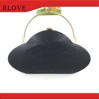 China Clutch bag hardware accessories gold metal frame with plastic box wholesale