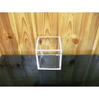 China Desk Clear Acrylic Lidless Open Pencil Holder Box Stand Display Container Jar on sale