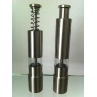 China Small Glass Handle Stainless Steel Pepper Mills With Black / White wholesale