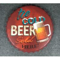 Buy cheap Wall Craft Decor Beer Cap Wall Metal Plaque Wall Decors Beer Bottle Cap from wholesalers
