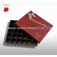 China Custom Chocolate Packaging Boxes , Candy Gift Boxes With Lids wholesale