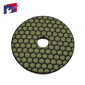China Normal Hexagonal Shape Concrete Polishing Pads Resin And Diamond Powder Material wholesale