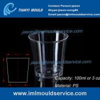 China clear 100ml thin wall PS plastic disposable drinking cups mould manufacturers and supplier on sale