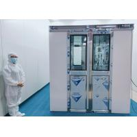 China 100 Class Cleanroom Air Shower With Auto Double Leaf Sliding Doors wholesale