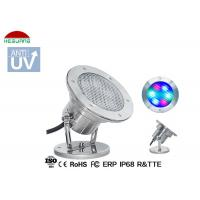 Buy cheap Stainless Steel LED Underwater Pool Lights RGB 4 Wires WIFI Control With Mobile from wholesalers