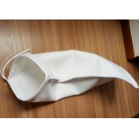 China Anti Static Filter Polyester / PP / Nylon Liquid Filter Bag , ISO 1mm Thickness Water Filter Bag wholesale