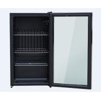 China Energy Saving Glass Door Mini Refrigerator 90 Liter Exquisite Appearance Design wholesale